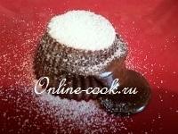 Маффины шоколадные с жидким шоколадом внутри