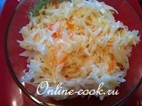 Быстрая (кисло-сладкая) квашеная капуста