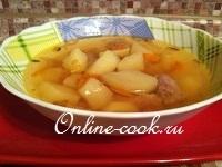 Суп картофельный со свининой