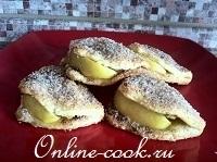 Печенье сахарное (внутри с яблоком)