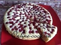 Пирог с лесной малиной (шарлоточное тесто)