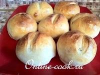 Столичные булочки (тесто делается в хлебопечке)