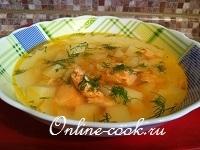 Суп рыбный с семгой