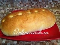 Яблочный хлеб-батон (тесто в хлебопечке, выпечка в духовке)